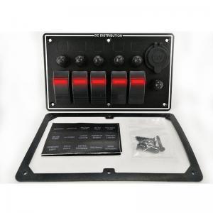 5 Gang Rocker Switch Panel & cigarette lighter