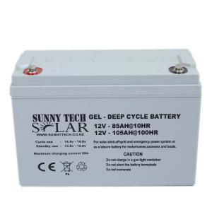 Gel Deep Cycle Solar Storage Battery 12V 105AH Maintenanc Free